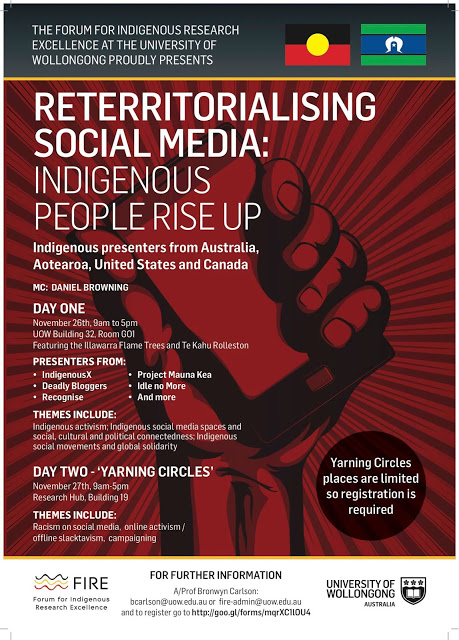 Reterritorialising Social Media: Indigenous People Rise Up – My work-in-progress notes