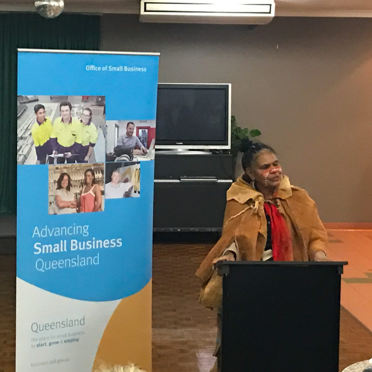 Aunty Maroochy Barambah at a Women in Business event.